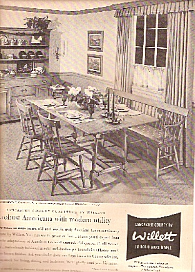 Willett hard maple furniture ad 1958 (Image1)