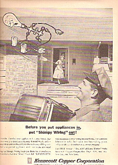 Kennecott copper corporation ad 1958 SKIMPY WIRING OUT (Image1)