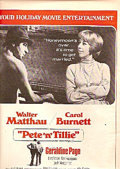 Movie AD PETE N TILLIE - WALTER MATTHAU - CAROL BURNETT (Image1)