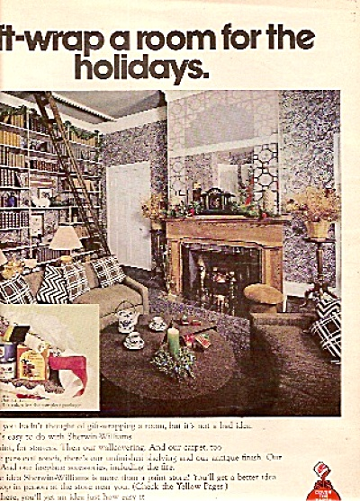 1972 Sherwin Williams Paint Ad Vintage 70s Room