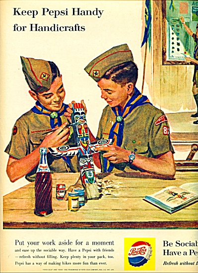 1960 Boy Scouts Indian Kachina Pepsi Ad
