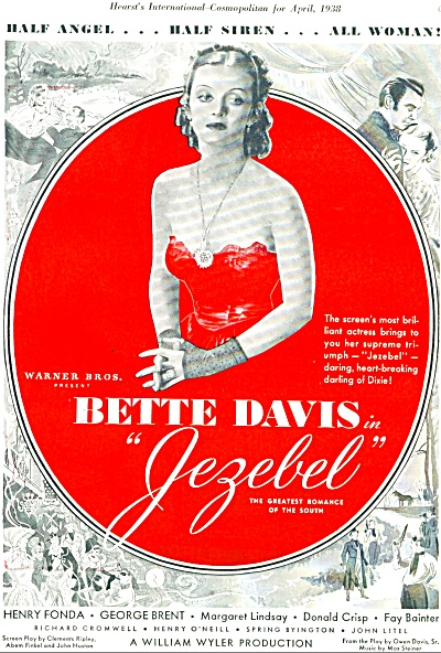 1938 Bette Davis in JEZEBEL Movie Ad (Image1)