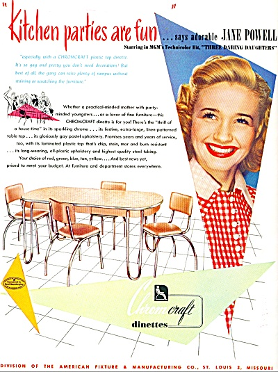 1948 Jane Powell Chromcraft Furniture Ad (Image1)