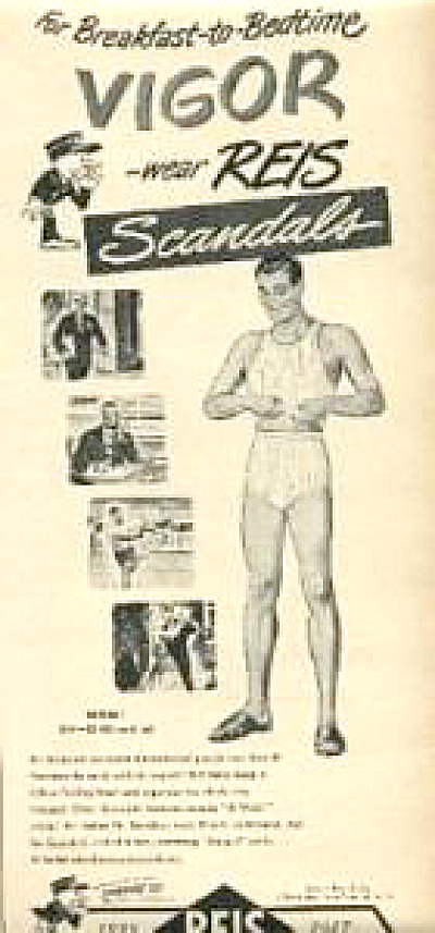 1947 Reis Men Underwear AD SCANDALS (Image1)
