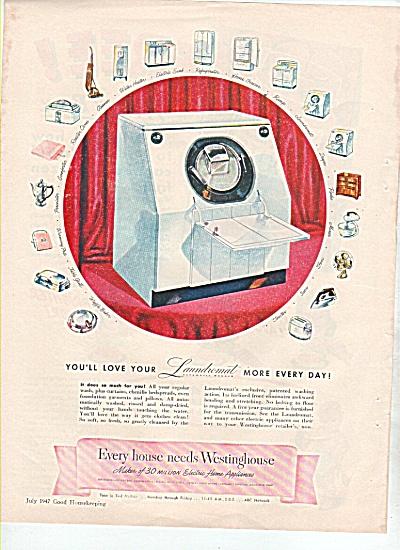 Westinghouse laundromat ad 1947 (Image1)
