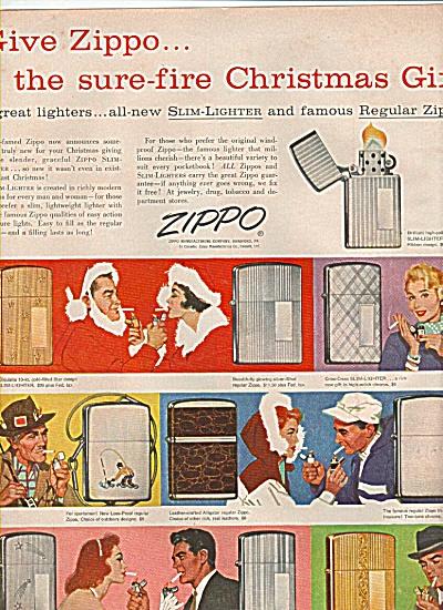 Zippo  slim lighter ad 1956 (Image1)