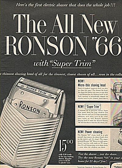 "Ronson ""66"" razer ad 1956 (Image1)"