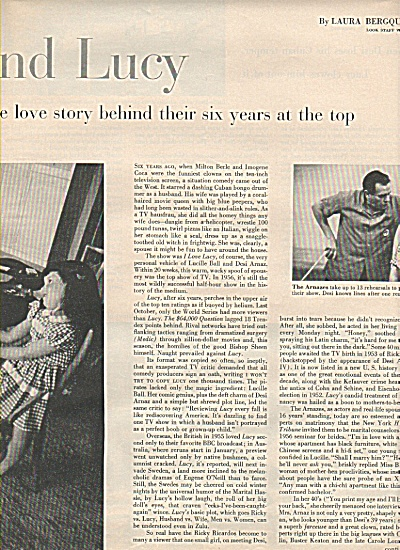 DESI  & LUCY STORY  - 1956 (Image1)