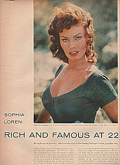 SOPHIE LOREN - Rich at 22 story   1956 (Image1)