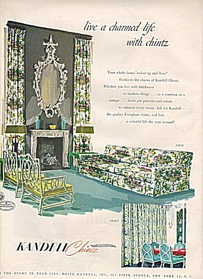 Kandell Chintz everglass ad  1950 (Image1)