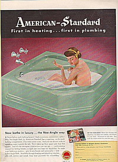 American - Standard heating-plumbing ad 1950 (Image1)