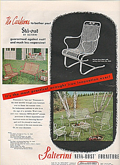 Salterini neva rust furniture ad 1950 (Image1)