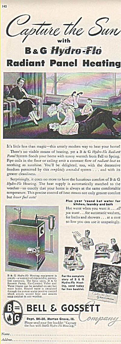 Bell & Gosset co - Radiant panel heating ad (Image1)