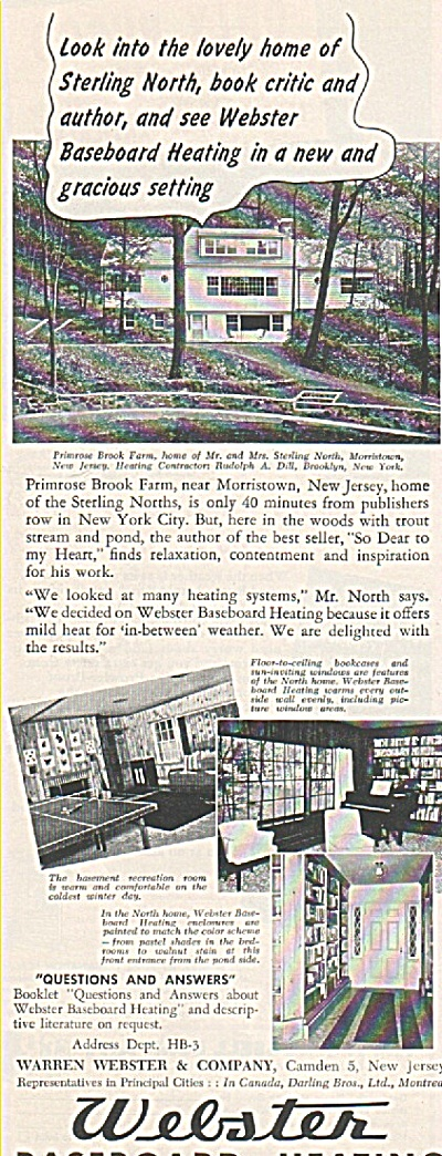 Webster Baseboardheating Ad 1950