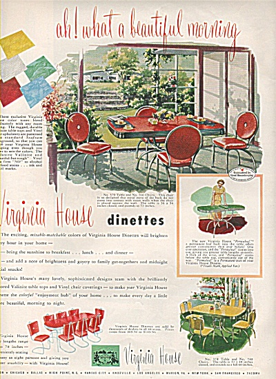 Virginia House Dinettes Ad 1950