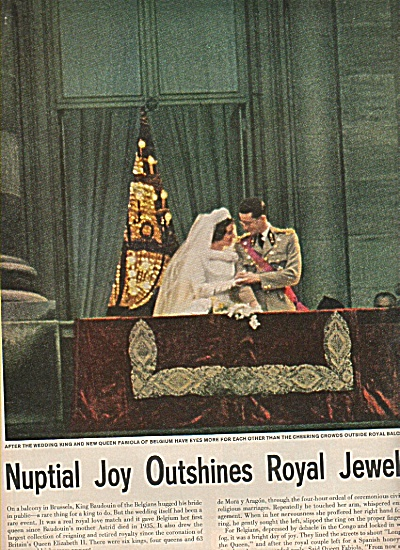 Wedding of King  and  Queen Fabiola of Belgiu (Image1)