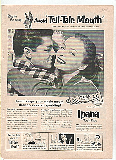 Ipana tooth paste ad 1952 (Image1)