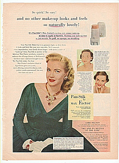 Pan stik by Max Factor ad 1952 (Image1)