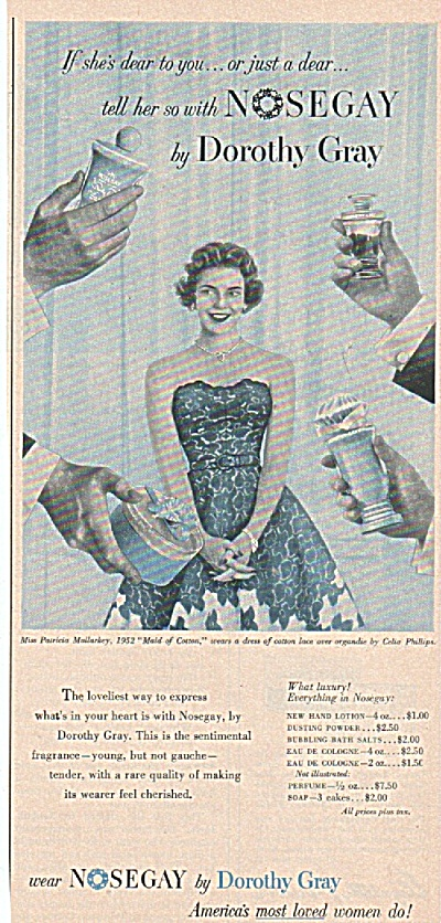 Nosegay By Dorothy Gray Ad 1952