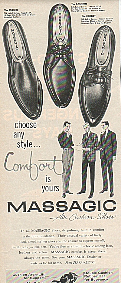 Massagic Shoes Ad 1961