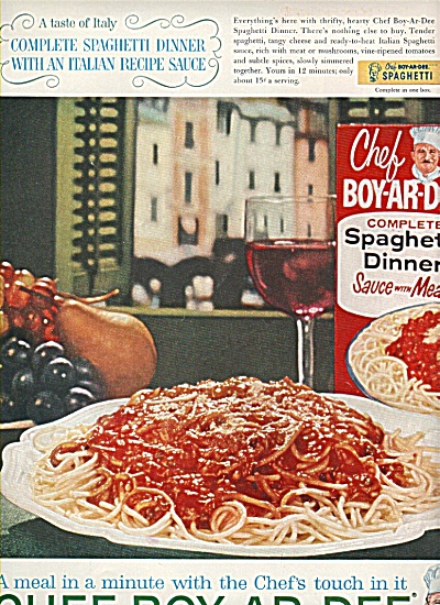 Chef-ar-dee spaghetti dinner ad 1961 (Image1)
