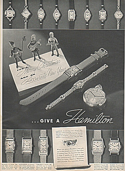 Hamilton watches ad 1937 (Image1)