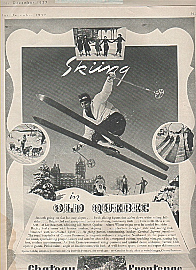 Skiing in Old Quebec ad 1937 (Image1)