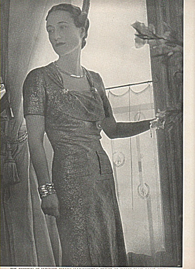 Duchess Of Windsor Pictdure 1937