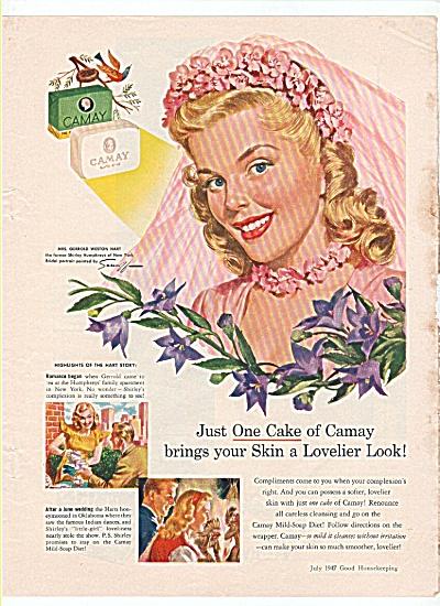 1947 CAMAY AD Shirley Gerrold Weston Hart Bride (Image1)