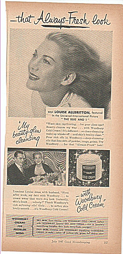 Woodbury cold cream - LOUISE ALLBRITTON (Image1)
