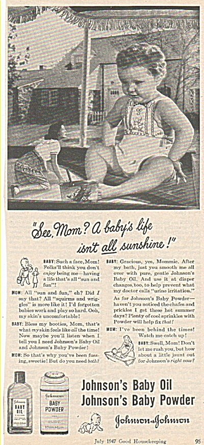 Johnson & Johnson  ad 1947 (Image1)