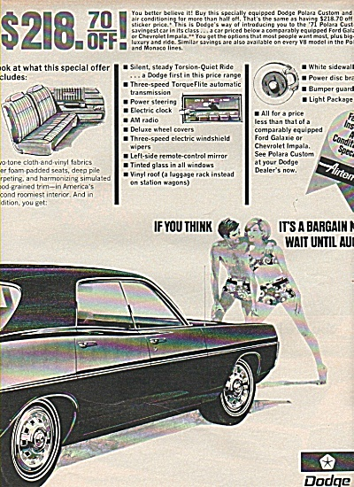 Dodge automobile ad - 1970 (Image1)