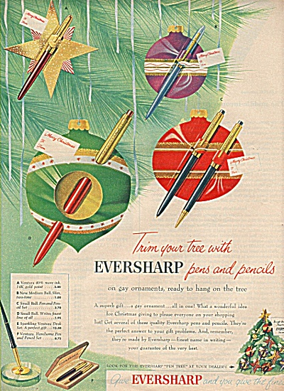 Eversharp pens and pencils ad 1955 (Image1)