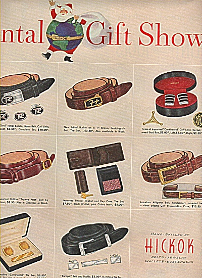 Hickok belts, jewelry,.wallets ad 1955 (Image1)