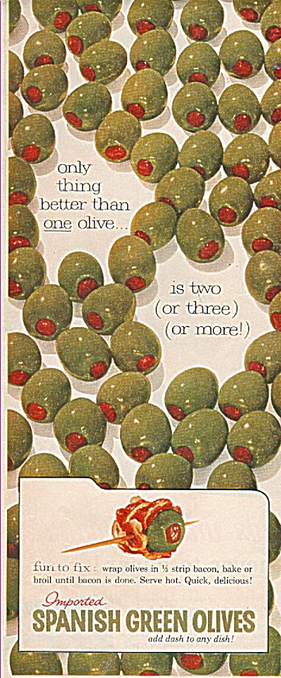 Spanish green olives ad  1955 (Image1)