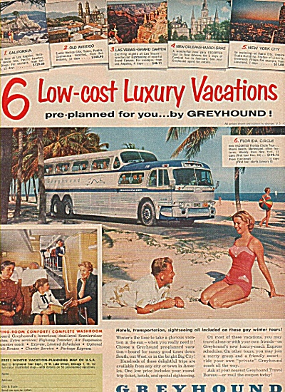 Greyhound Bus Lines Ad 1955