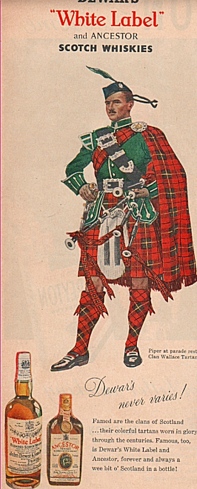 Dewar's scotch whiskies ad 1955 (Image1)