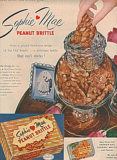 Sophie Mae peanut brittle ad 1955 (Image1)