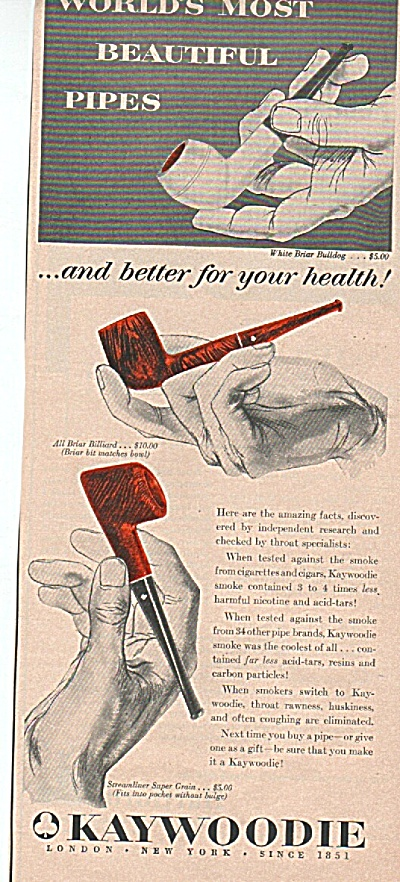 Kaywoodie pipes ad 1955 (Image1)