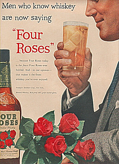 Four Roses whiskey ad 1955 (Image1)
