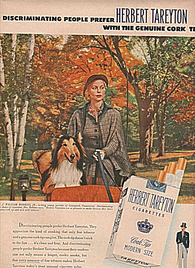 Herbert Tareyton cigarettes ad 1955 (Image1)