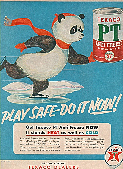 Texaco Pt Anti Freeze Ad 1953