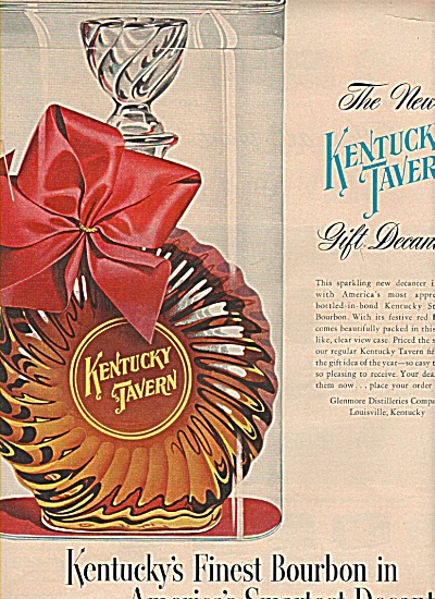 Kentucky Tavern Bourbon Ad 1953