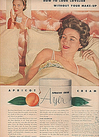 Apricot Cream By Ayer Ad 1953