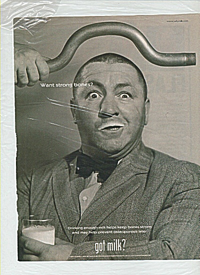 GOT MILK?  Curly Howard 3 Stooges AD (Image1)
