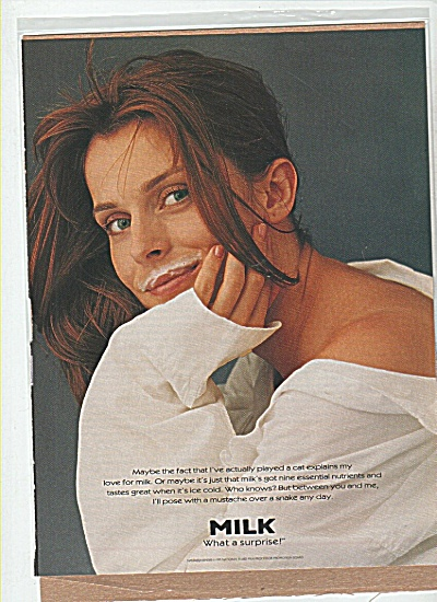 Got Milk? Natassja Kinski Ad Surprise