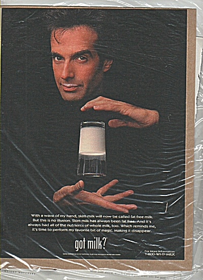 David Copperfield Got Milk Ad (Image1)