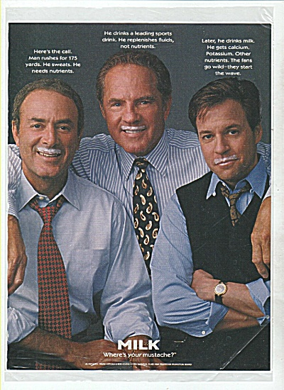 Milke ad - Frank Gifford, Bob Costas - Al Mic (Image1)