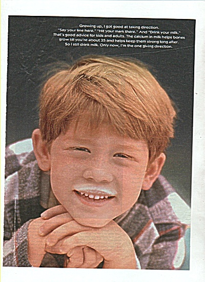 Ron Howard (as a boy) picture -milk mustache (Image1)