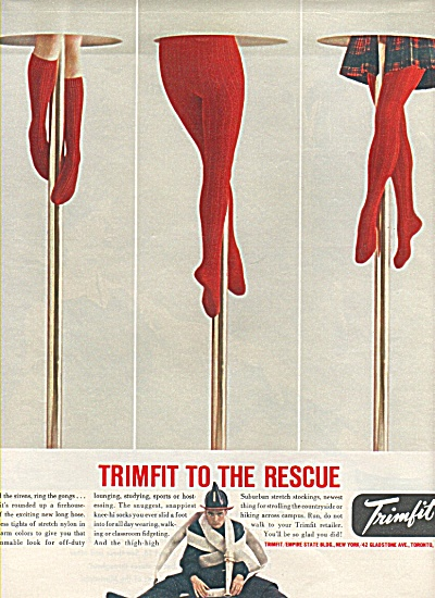 Trimfit stretch nylons ad 1958 (Image1)